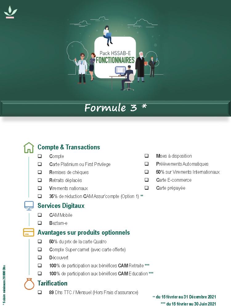Pack Fonctionnaires Formule 3