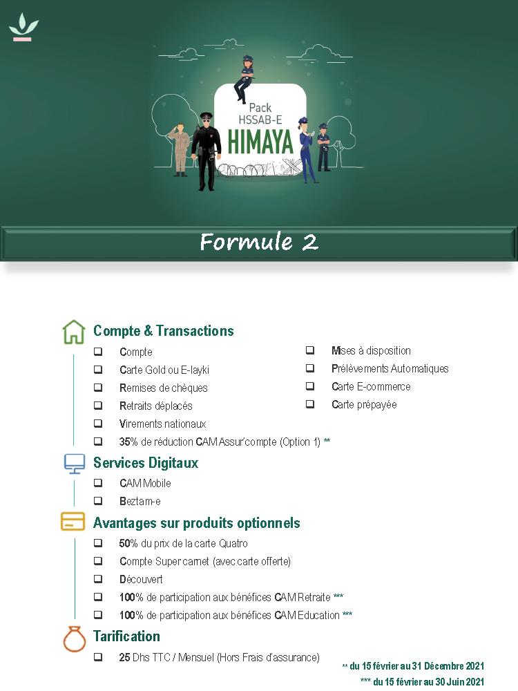 Pack Himaya formule 2