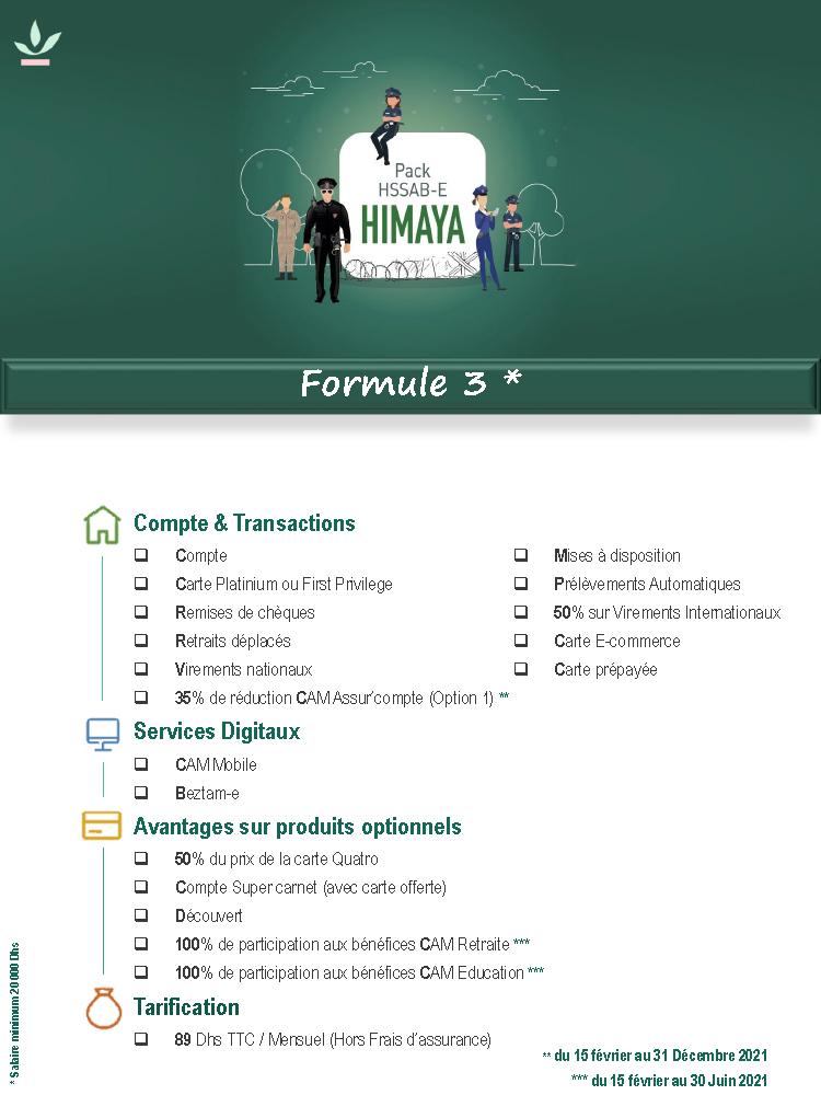 Pack Himaya formule 3