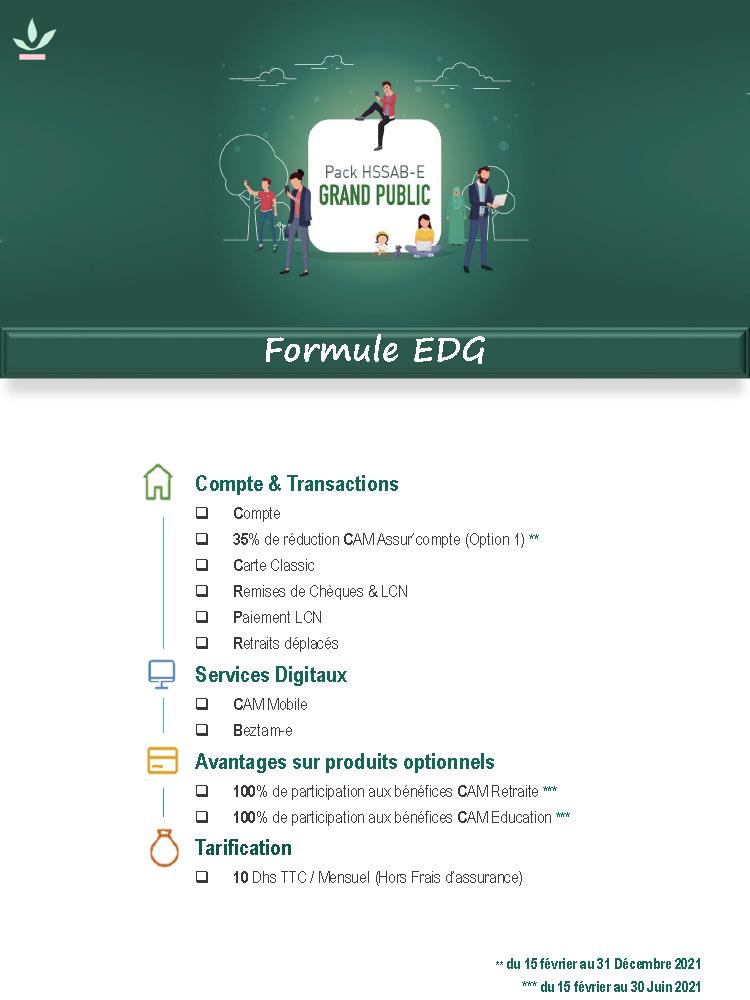 Pack Grand Public Formule EDG