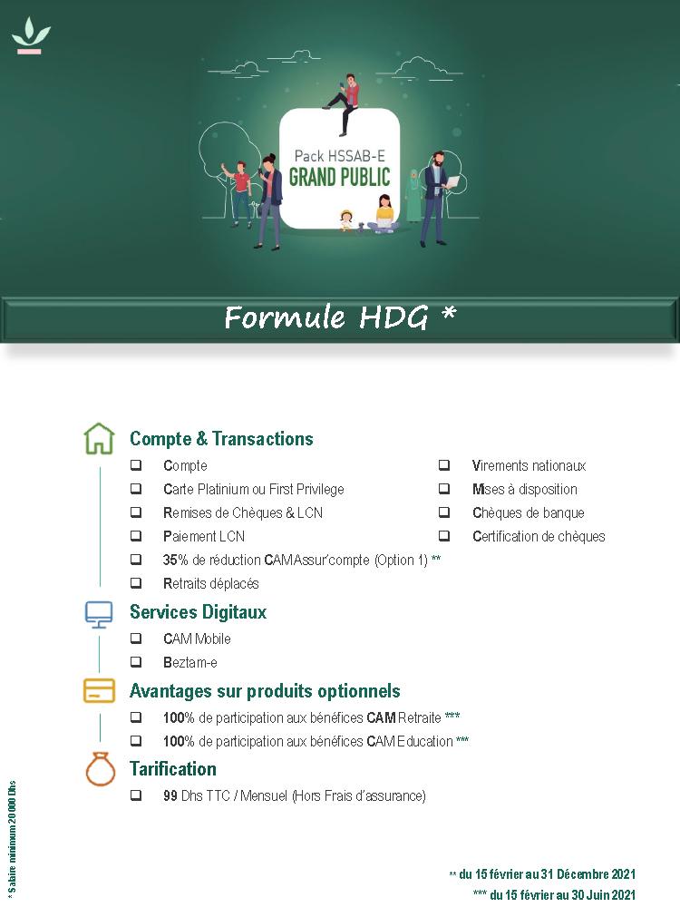 Pack Grand Public Formule HDG