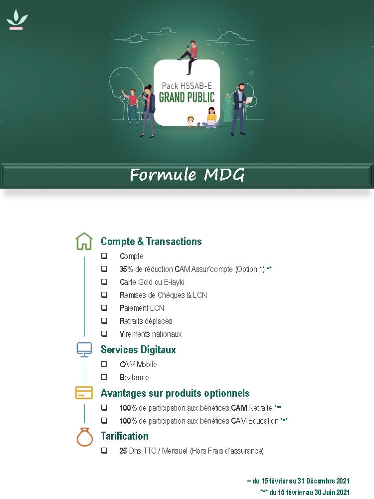 Pack Grand Public Formule MDG