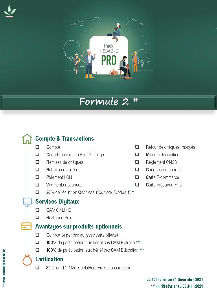 Pack Pro Formule 2